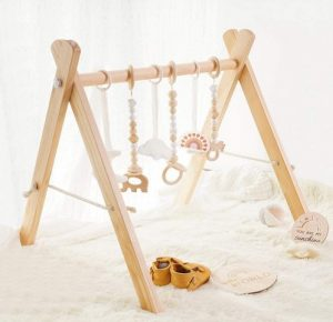 little dove Baby Play Gym Wooden Baby Gym